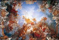 peintures murales photo personnalisée Renaissance peinture à l'huile zénith classique plafond 3d peintures murales papier peint