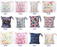 Wet Dry Bag Laundry Waterproof diaper bag Double Zippered Cl...