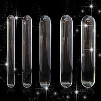 230mm Cilindro Cilindro Dildo Gran Enorme Glasswware Penis Crystal Anal Enchufe Juguetes sexuales femeninos para las mujeres G Spot Stimulator Placer Wand
