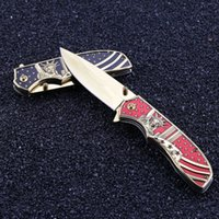 New Style Folding Blade Pocket Knife Titanize Colorful Metal...