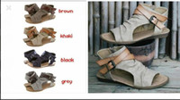 new Womens Shoes Flat Heel Rome Sandals Sale Hollowed Sandal...