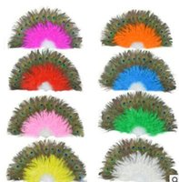 New peacock feather fans Carnival dance fans Party favors mix colors available
