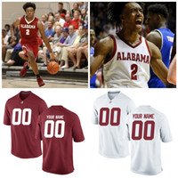 Alabama Crimson Tide College Basketball Jerseys Пользовательский 2 Collin Sexton 3 Ridley Julio Any Name Любой номер сшитый