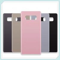 """الأصلي جديد 6.3 """"استبدال الزجاج الخلفي لسامسونج غالاكسي Note8 ملاحظة 8 غطاء البطارية الباب الخلفي الإسكان حالة 6 اللون + ملصقا"""
