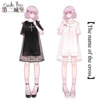 Thema Kostüm Sommer Lolita Original Design Frauen Kurze Nette Kleid Süße Mädchen Tägliche Baumwolle T-Shirt Frill Chiffon Cover Rock 2021