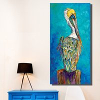 QKART home decoration wall art blue animal painting on canva...