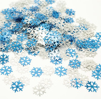 Chirstmas снежинка брызгает свадебный день рождения украшения вечеринки 2 см столовая блеск голубой серебряная снежинка, Etallic Confetti