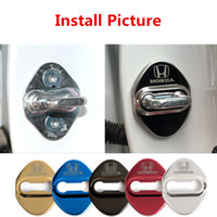 4Pcs Four Color Stainless Steel Car Door Lock Protective Cov...