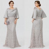 Elegant Plus Size Mother Bride Dresses 2018 Latest Bateau Ne...