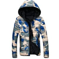 2018 Winter Jacket Men Plus Size New Camouflage Thickening F...