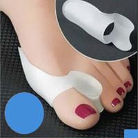 Ayak bakımı çorap Silikon Jel ayak parmakları Iki Ayak Ayırıcı başparmak valgus koruyucusu Bunion ayarlayıcı Halluks Valgus Guard