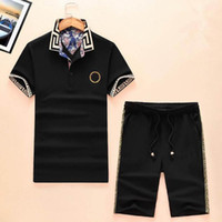 Luxury brand polo tshirts for men casual flower print tracks...