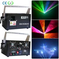 3d rgb laser 2w dj lights dmx + ilda + sd + 2d + 3d multi color 1w rgb laser proyector