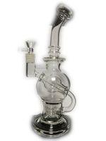 """10 """"Tall FC Torus bong en verre Recyclage bongs FC plates-formes pétrolières bongs en verre robuste pipe à eau commune 14.4mm graine de vie perc verre"""
