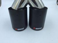 inlet63mm-outlet89mm углеродного волокна 304 из нержавеющей стали выхлопной наконечник выхлопной трубы глушителя для универсального автомобиля марки AKRAPOVIC глушитель для Ак