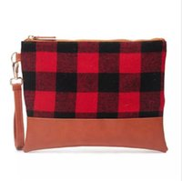 11. 5*8. 5 Inch Buffalo Plaid Wristlet Wholesale Blanks Woman ...