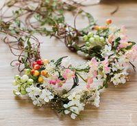 Свадебный головной убор, Sen Xian Mei, ручной тростник, белый женский цветок венок, голова цветок фотография, аксессуары для волос