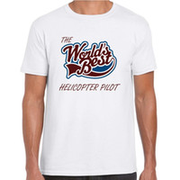 Worlds Best Helicopter Pilot Mens Unisex T Shirt - Gift, Lov...