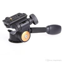 Qzsd Q08 الألومنيوم 3-Way السوائل رئيس الروك ذراع الفيديو ترايبود الكرة رئيس سريعة الإصدار بلايت ل dslr كاميرا ترايبود gimbal