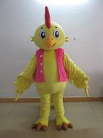Costume adulto della mascotte animale adulto del fumetto del vestito operato caldo adorabile-giallo-gallo di vendita diretta della fabbrica trasporto libero della mascotte