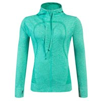 New Brand Women Fitness Zipper Hoodies Comfortable Fast- Dry ...
