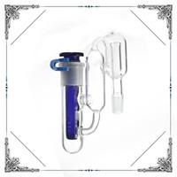 Recycler Ashcatcher apto de vidro Bongo de água tubos com um clipe um downstem um coletor de cinzas água bong 14.4mm 14mm