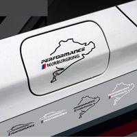 Yeni Stil araba yakıt deposu kapağı sticker Yarış Yol Için Nurburgring bmw e46 e90 e60 e39 f30 f34 f10 e70 e71 x3 x4 x5 x6 Araba Styling