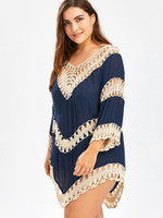 Wipalo Summer Cover Up Tops Women Tops V Neck Lace Crochet K...