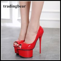 16cm designer women heels shoes red wedding shoes luxury bla...