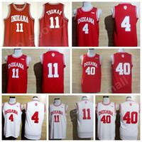 Universidad Baloncesto Indiana Hoosiers Jerseys Universidad Isiah Thomas 11 Victor Oladipo Jersey 4 Cody Zeller 40 Rojo Blanco Uniforme Deporte Oferta