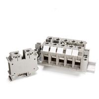 40 ADET DIN ray Kablo kurulu konnektör terminalleri bakır kısmı 35.0mm İNGILTERE-35N gri gri Kablo satır bağlantı