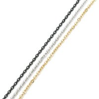 Xinyao 10Yarder / Roll 1 / 1,5 / 2 / 2,5 / 3mm Bredd Rostfritt Stål Metall Rolo Link Kedjor Fit Halsband Bulkkedjor för DIY smycken