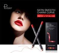 Pudaier 12 colores delineador de labios a prueba de agua de larga duración lápiz labial terciopelo sexy lipliner nude nuevo maquillaje de labios mate