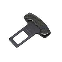 2pcs universale Veicolo in fibra di carbonio in fibra di carbonio auto sicurezza cintura fibbia clip car-styling