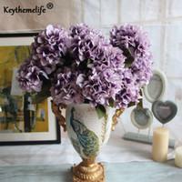 زهور اصطناعية 7 رؤساء كوبية أوروبا الكلاسيكية وهمية الزينة التصوير الدعائم حديقة غرفة ديكور المنزل فا