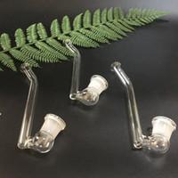 18.8mm verre J crochet coudé embout de verre adaptateur en verre courbé femelle avec j Style de crochet pour les bongs de l'eau