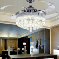 Led Ceiling Fans Light 110- 240V Invisible Blades Ceiling Fan...