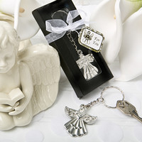 FREE SHIPPING(100pcs lot)+ Guardian Angel Keychain Ring Weddi...