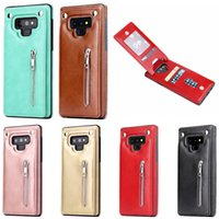 3 Cards Zipper Back Cover Phone Case for Samsung Galaxy Note...