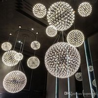 modern living room pendant lamp light stainless steel ball l...