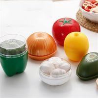Food Savers caja de almacenaje cubierta transparente portátiles Freshkeeping Frutas Verduras Snacks de seguridad para recipientes de plástico de alta calidad de 3 V 25tx