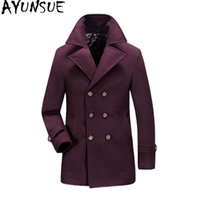 AYUNSUE Yün Ceket Adam Ceket Artı Boyutu Erkekler Için Kış Ceket Rahat Gevşek Palto Palto Casaco Masculino erkek KJ238