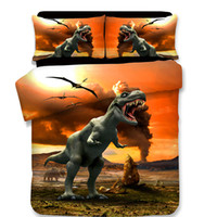 3D Dinosaur Bedding Set Animal Plant Pillowcases Fashion Sty...