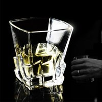 Transparent Wine Glass Beer Whiskey lead- free thickened liqu...