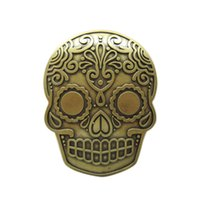 New Vintage Bronze Plated Tattoo Skull Belt Buckle Gurtelschnalle Boucle de  ceinture f605ce1e008