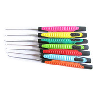 KLOM Ensemble de crochet à 7 pièces Premium avec poignée colorée - Ensembles de crochets et de crochets qualifiés pour les serruriers professionnels