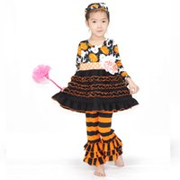 Girls Clothes Halloween Pumpkin Pattern Children Clothes Lon...