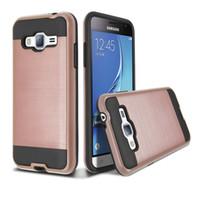 Fırçalı Zırh Silikon Kauçuk Sert Telefon Kılıfı için Samsung Glaxy Grand Neo Artı I9082 I9060 J3 / J3 2016 J5 J500 J7 J700 A3 A5 A7 A8 2015