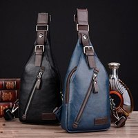 Famous Brand Magnetic Button Open Leather Mens Chest Bags Moda Travel Crossbody Bag Hombre Messenger Bag