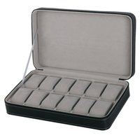 Protable 12 Slots Watch Box Storage case With Zipper Multi- f...